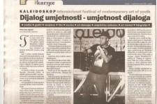 Krantenartikel Rivelino Bosnie