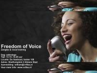 NIEUWS!!! Freedom of Voice vocaltraining nu nog voordeliger en ook in Amsterdam!