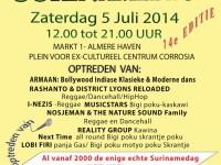 Surinamedag in Almere Haven 5 juli 2014